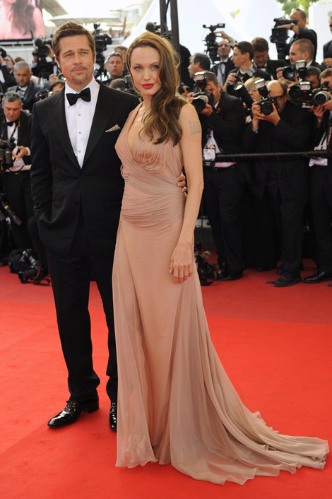 Angelina Jolie Brad Pitt Versace dress Cannes