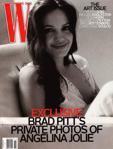Angelina Jolie Breastfeeding by Brad Pitt for W magazine cover November 2008