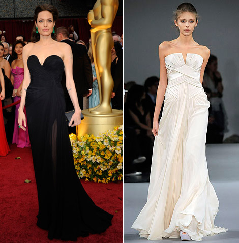 Angelina Jolie Elie Saab dress Oscars 2009