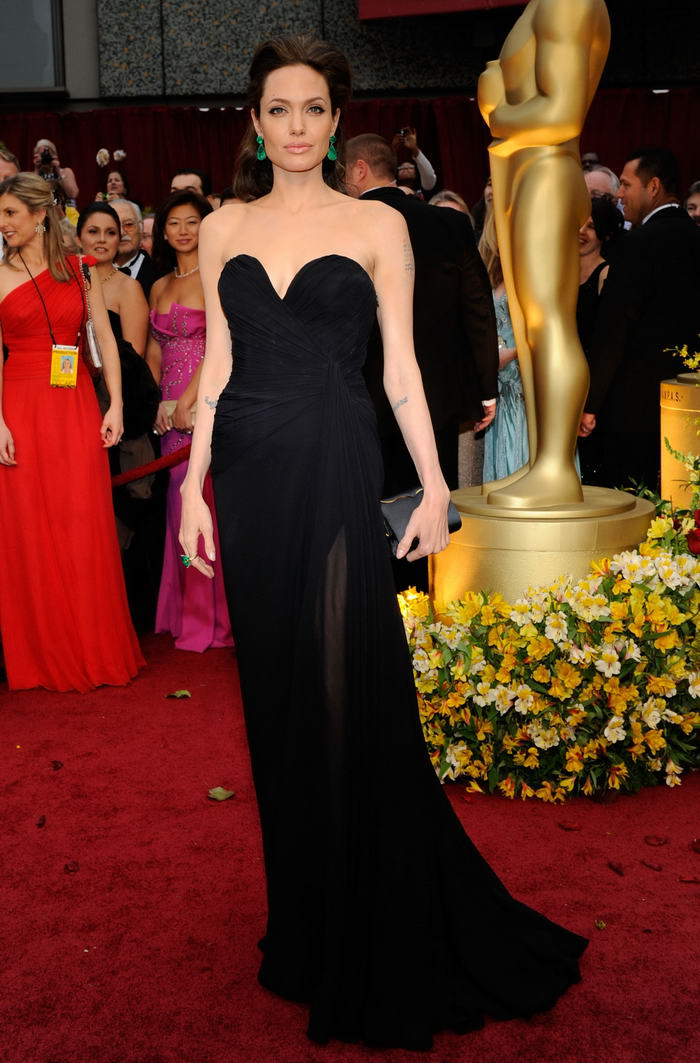 Angelina Jolie Elie Saab dress Oscars 2009 2