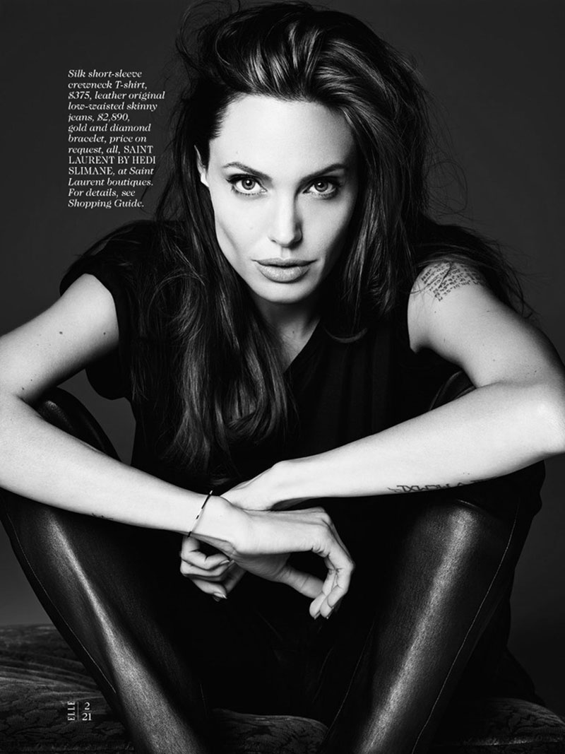 Angelina Jolie Elle June by Hedi Slimane