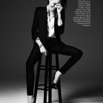 Angelina Jolie Elle Magazine suit Saint Laurent by Hedi Slimane
