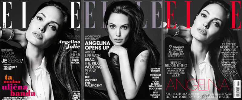Angelina Jolie Elle multicovers deal