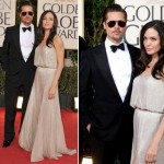Angelina Jolie Golden Globes 2009 Atelier Versace dress Brad Pitt Tom Ford