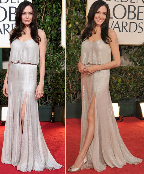 Angelina Jolie Golden Globes 2009 Atelier Versace dress