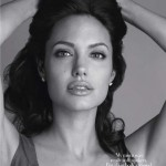 Angelina Jolie Harpers Bazaar December 2008 black and white pictures 2