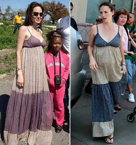 Angelina Jolie Jennifer Garner with Gerard Garel Dress