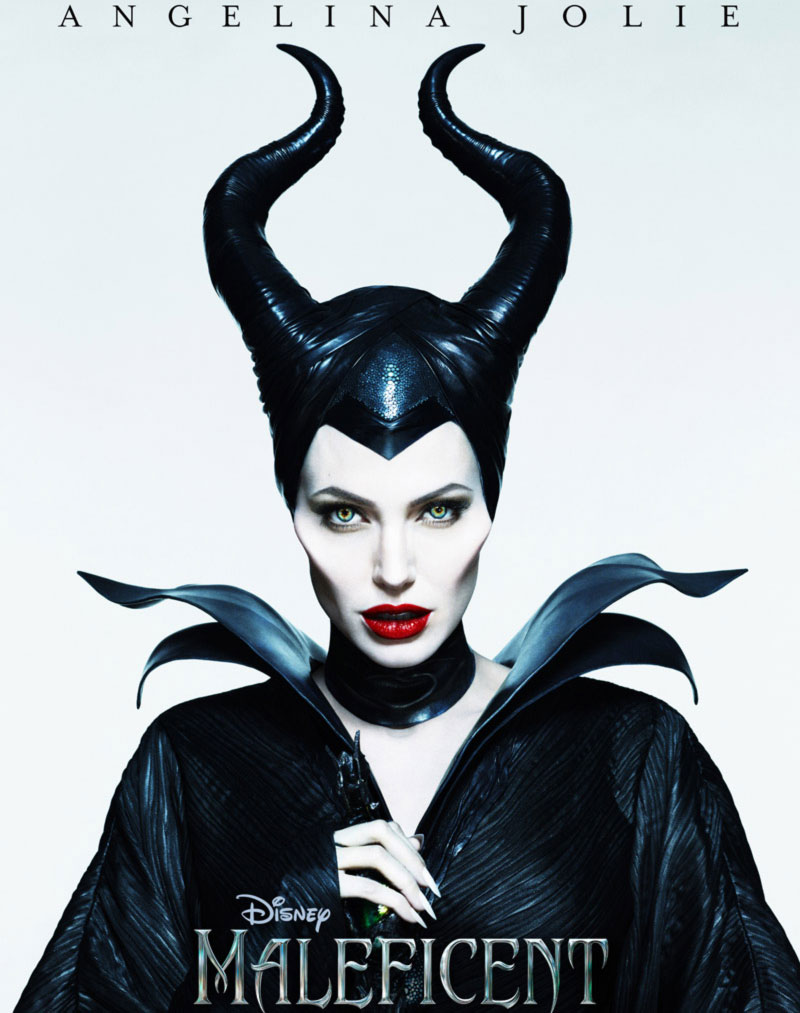 Angelina Jolie Maleficent horns makeup nails