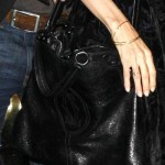 Angelina Jolie Marcello De Cartier Black shopping bag