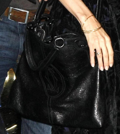 Angelina Jolie And Her Marcello De Cartier Black Shopping Bag