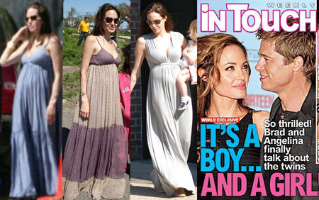 Angelina Jolie Expecting Twins &#8211; More Tent Dresses to Come