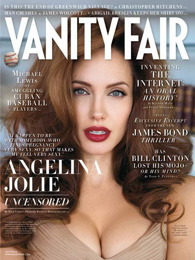 Angelina Jolie Covers Vanity Fair July 2008
