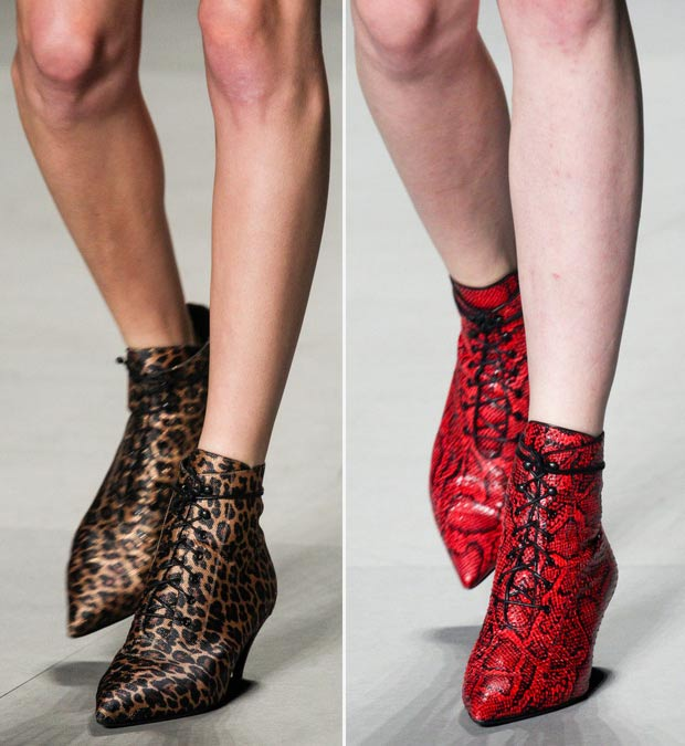 animal print Ankle Booties Saint Laurent SS14