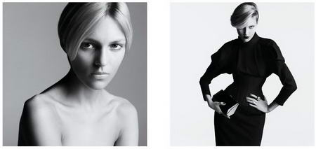 Anja Rubik Before and After Makeup