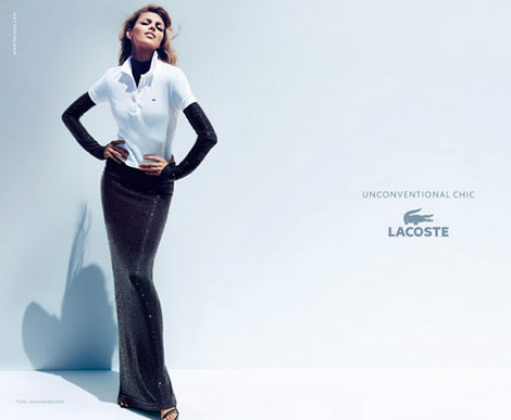 Anja Rubik Lacoste Unconventional Chic ad campaign 2011