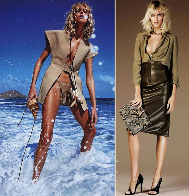 Anja Rubik pictorial Vogue Paris Vs Vogue Spain