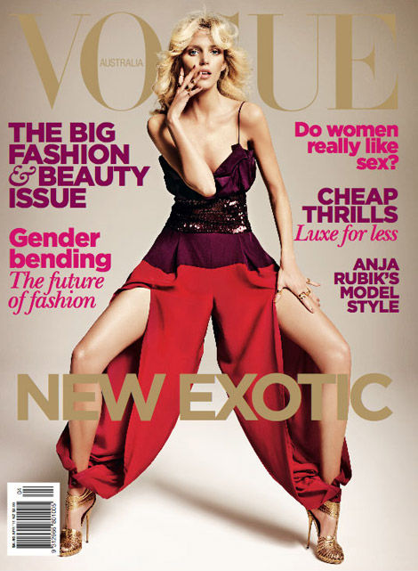 Anja Rubik Vogue Australia April 2011 cover