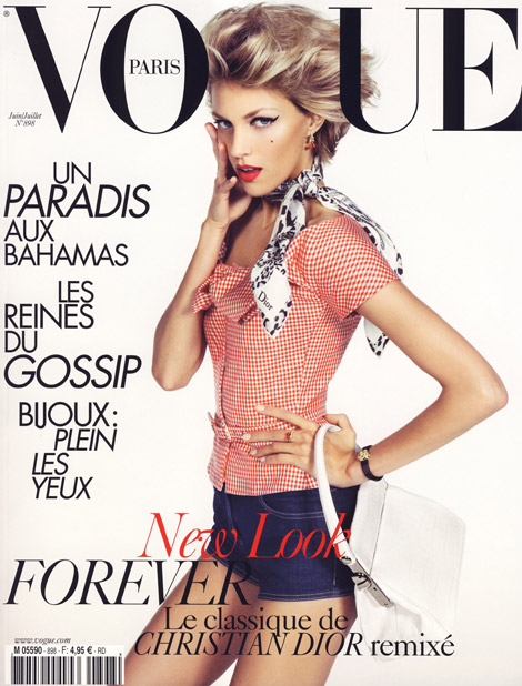 Anja Rubik Vogue Paris June July 2009 cover