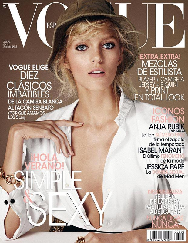 Anja Rubik Vogue Spain June 2013 cover