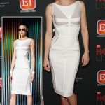 Anna Faris white dress Herve Leger Max Azria