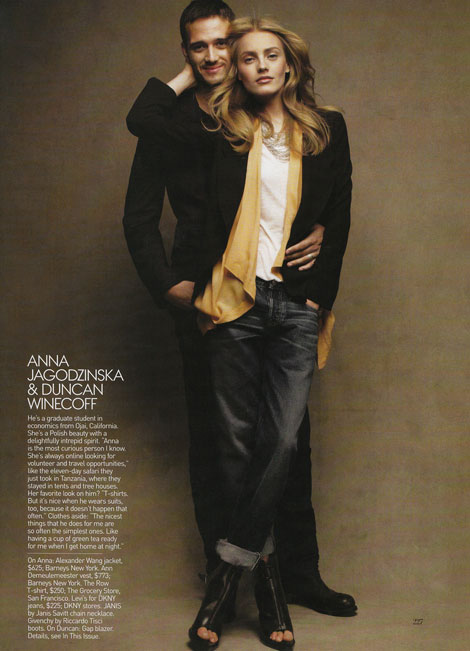 Anna Jagodzinska boyfriend Duncan Winecoff Vogue May09