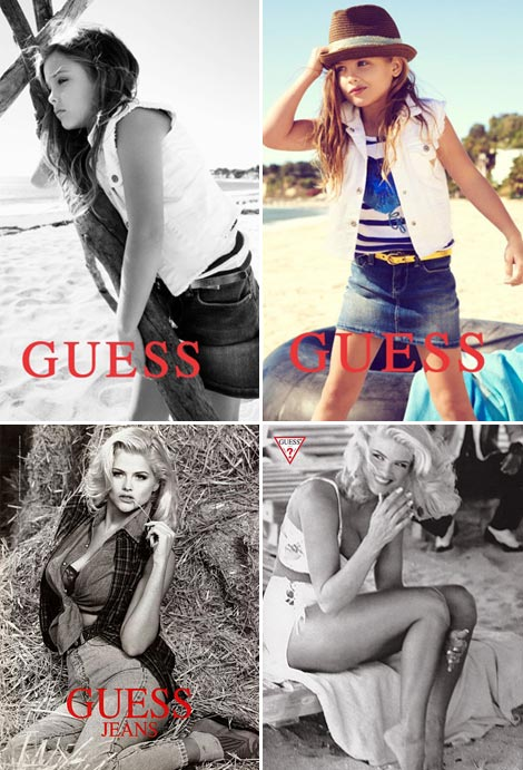 Anna Nicole Smith's Daughter, Dannielynn Birkhead Models For Guess Kids