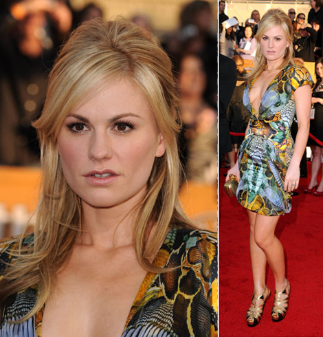 Anna Paquin Alexander McQueen dress 2010 SAG Awards