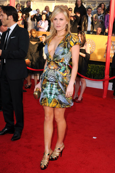 Anna Paquin McQueen dress 2010 SAG Awards