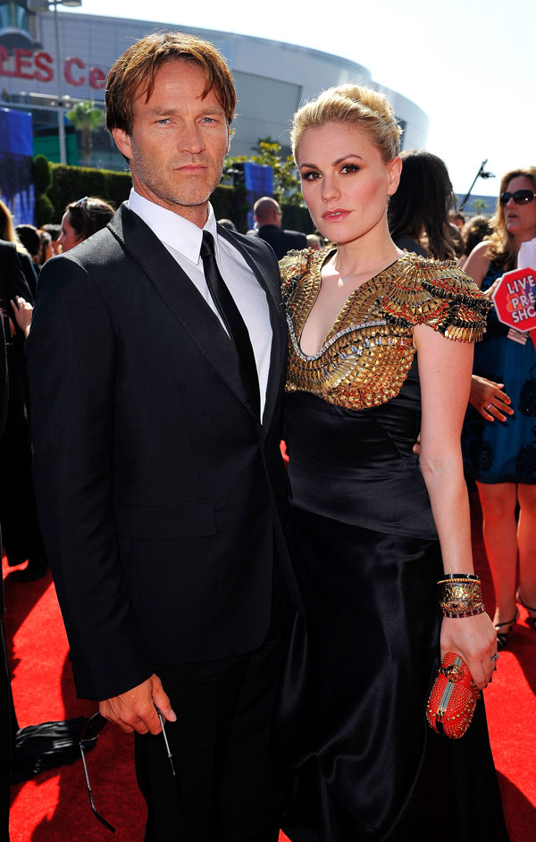 Anna Paquin's Black Alexander McQueen Dress For Emmys 2010 Red Carpet