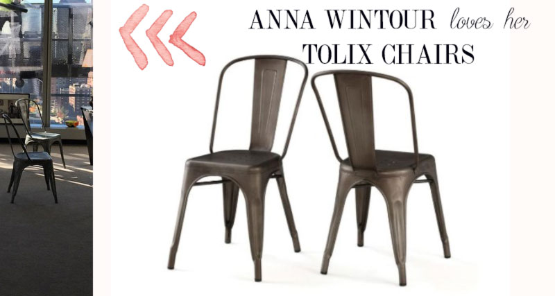 Anna Wintour office chairs Tolix