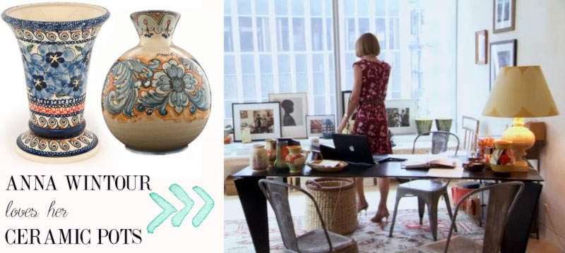 Anna Wintour office decoration ceramic vases