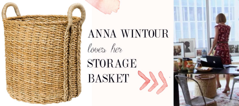 Anna Wintour office storage basket