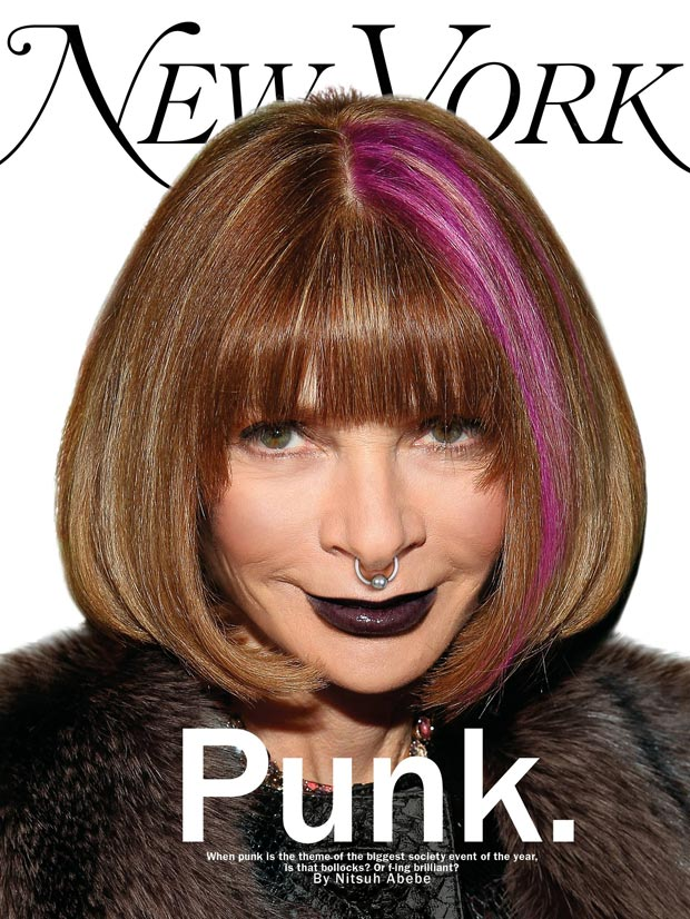 Anna Wintour Goes Punk On Magazine Cover!