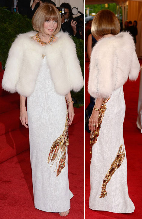 Anna Wintour white Prada dress Met Gala 2012