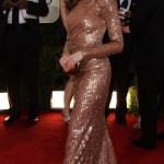 Anne Hathaway Armani sequined dress Golden Globes 2011 1