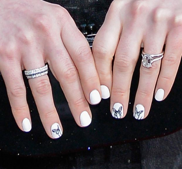 Anne Hathaway butterfly nails 2013 SAG Awards