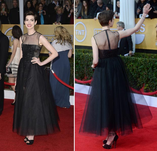 Anne Hathaway Giambattista Valli dress 2013 SAG Awards