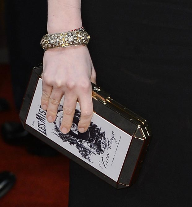 Anne Hathaway Les Miserables clutch 2013 BAFTA Awards