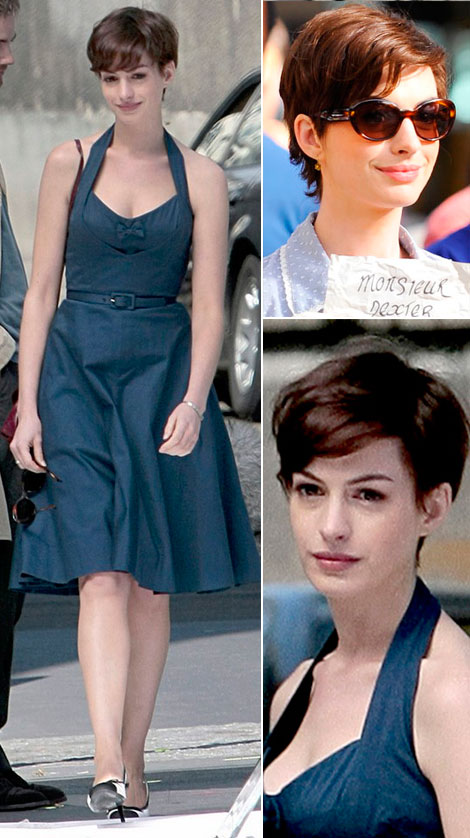 Anne Hathaway new short haircut