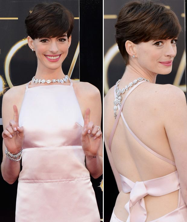 Anne Hathaway 2013 Oscars fashion disaster