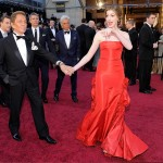 Anne Hathaway red Valentino dress 2011 Oscars 2