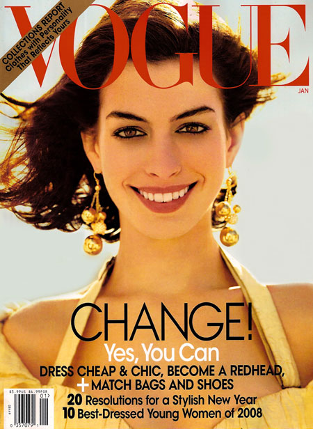 Anne Hathaway Vogue US January 2009 cover