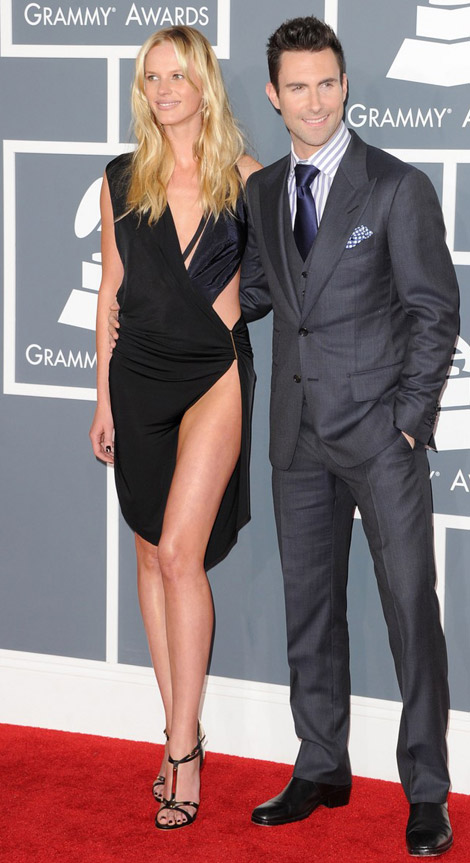 Anne V black cutout dress 2012 Grammy Awards
