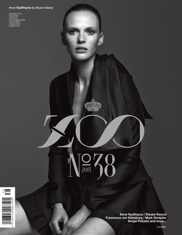 Anne Vyalitsyna photographed by Bryan Adams for Zoo Magazine