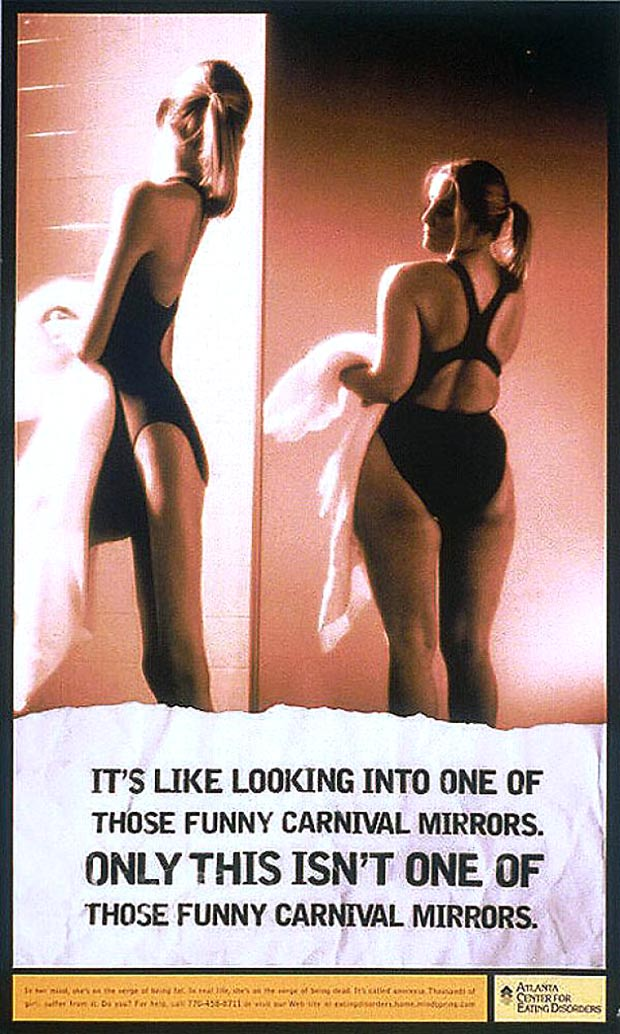 Anorexia psa distorted image ad 2000
