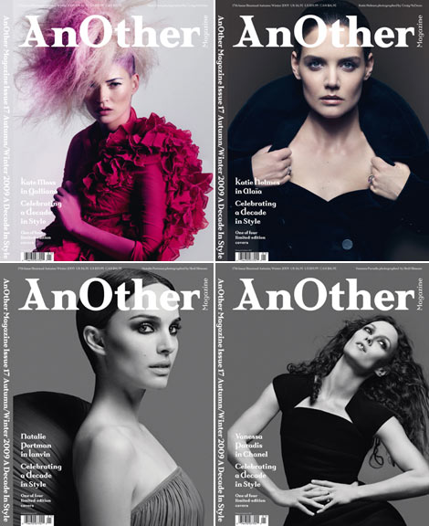 AnOther Magazine Fall Winter 2009 covers