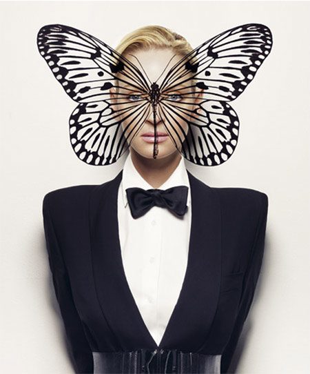 Uma Thurman Butterfly Picture Another Magazine