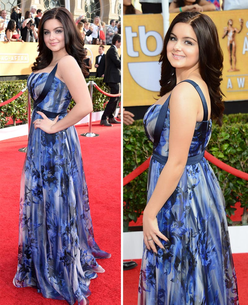 Ariel Winter blue dress 2014 SAG Awards Red Carpet