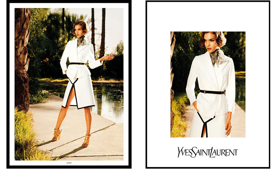 Arizona Muse's YSL Manifesto Spring Summer 2011