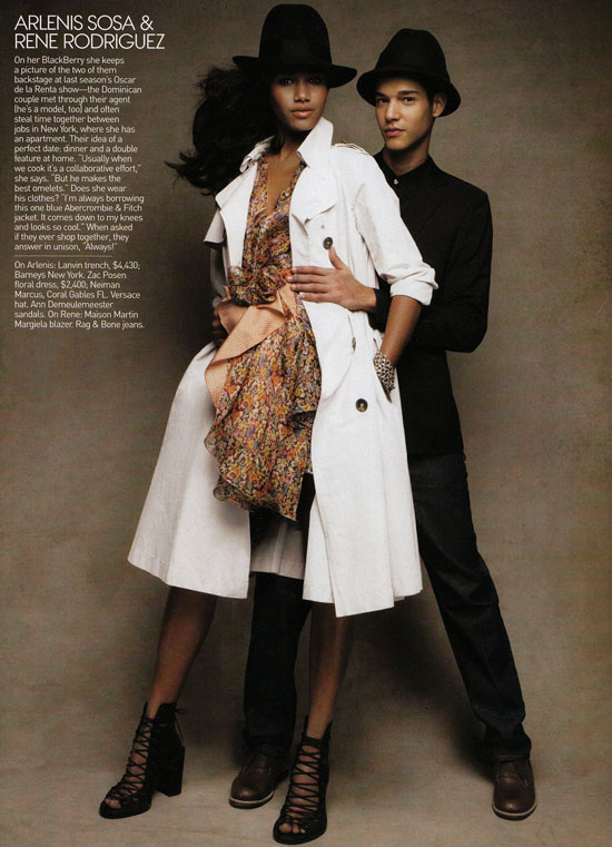 Arlenis Sosa boyfriend Rene Rodriguez Vogue May09